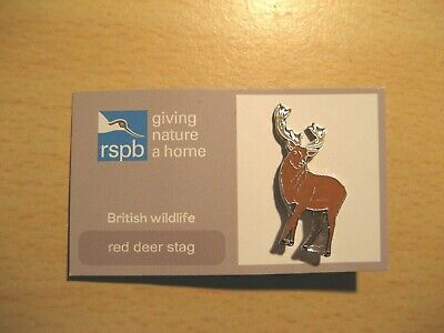 Rspb Red Deer Stag Pin Badge Giving Nature A Home  The British Wildlife Range