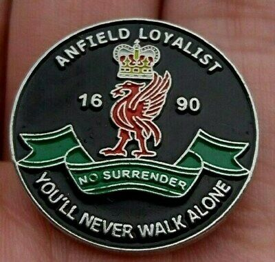 Liverpool Fc Anfield Loyalist 1690 No Surrender Pin Badge Rare Vgc