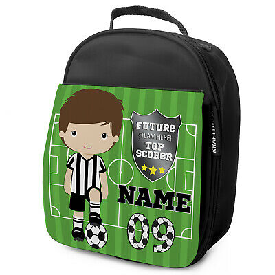Personalised FOOTBALL Lunch Bag Boys Childrens School Nursery Box KF02