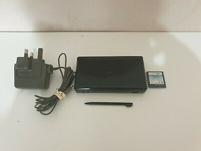 Nintendo DS Lite Onyx Black Handheld - Fully working - original Charger included