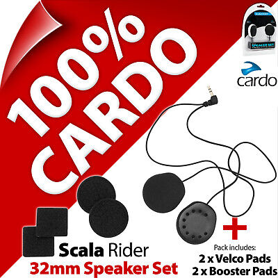 Cardo Scala Rider 32mm Speaker Set PackTalk SmartPack Freecom G9x G9 Q3 Q1 Qz
