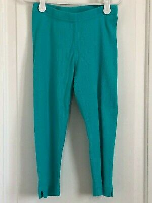 Hanna Andersson girls 130 8-10 mint green ribbed leggings EUC!!