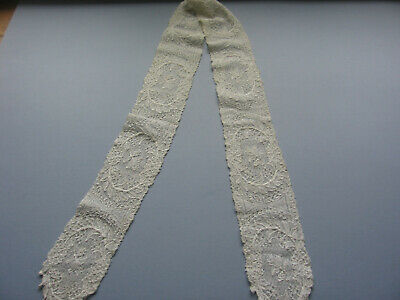 ANTIQUE 19thC LACE LAPPET