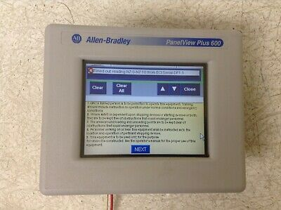 ALLEN BRADLEY 2711P-T6C5D /C PanelView Plus 600 Color