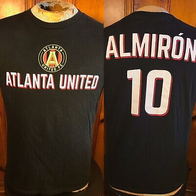 outlet store d5472 1a15e ATLANTA UNITED FC Miguel Almiron Miggy Black T-Shirt Jersey #10 Medium MLS