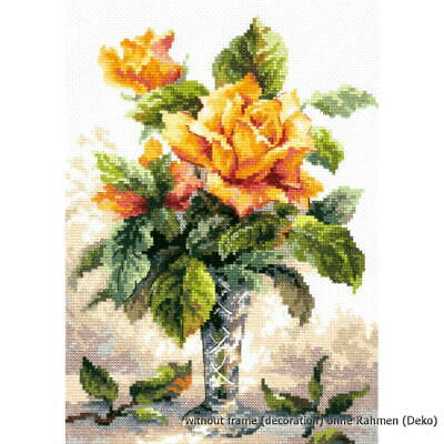 Magic Needle Counted cross stitch kit Yellow Roses, 20 x 27cm