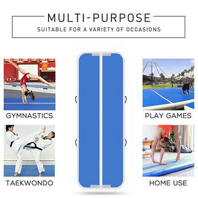 Airtrack Air Track Floor Home Inflatable Gymnastics Tumbling Mat GYM w/ Pump NEW