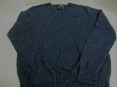 American Eagle Outfitters Men Juniors Size S small Sweater Blue AE Boys