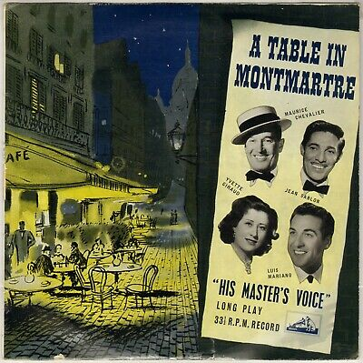 "Compilation Chanson Francaise ""A Table In Montmartre"" 50'S 25 Cm Hmv 1041"