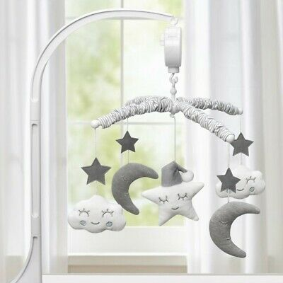 4Baby Musical Mobile Set Moon & Stars Grey