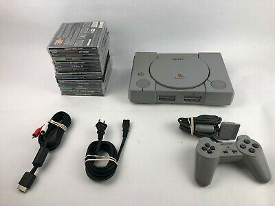 Sony PlayStation One PS1 Bundle With 15 Games and 1 Controller