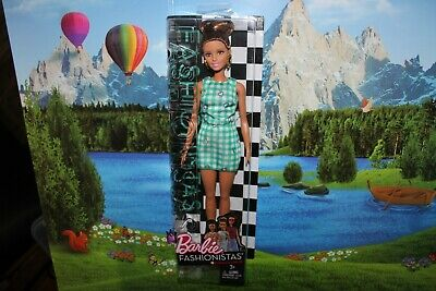 Fashionista Barbie Doll # 50 Emerald Check Dvx72 Brand New In Box 2016 Great Upd