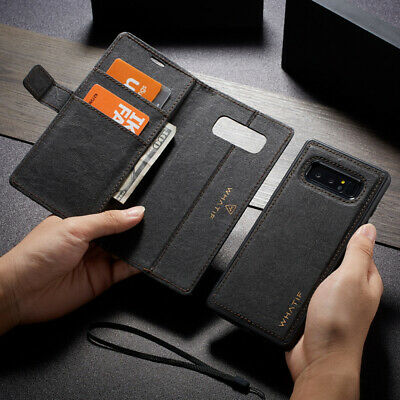 For Samsung Galaxy S10 Plus S10e Detachable Magnetic Leather Wallet Case Cover