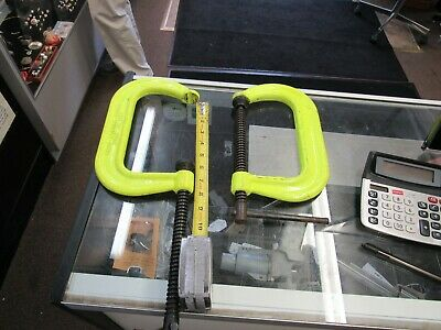 """Wilton C-CLAMPS 400 Series High-Visibility 6""""  Drop Forged Steel 6,600 lbs pres"""