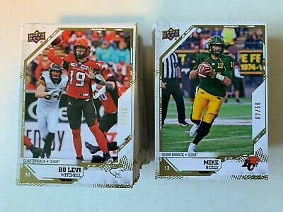 2019 UPPER DECK CFL Gold PARALLEL /50 PICK FROM LIST
