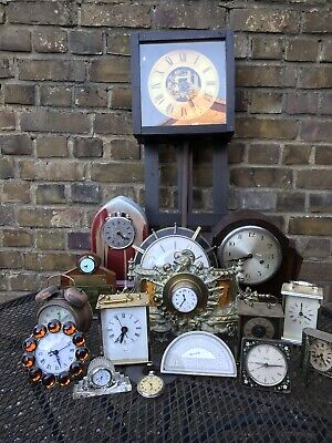 Assortment of 15 Clocks & 1 Pocket Watch (See Photos)
