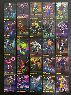 Marvel Contest of Champions Dave and Busters 25 Card Lot Choose Your Own Foils!