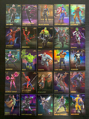 Marvel Contest of Champions Complete Foil Common Set 25 Card Lot Dave Busters