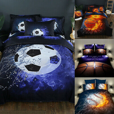 3D Football Basketball Bedding Set Soccer Duvet Cover Pillowcase Comforter Sheet