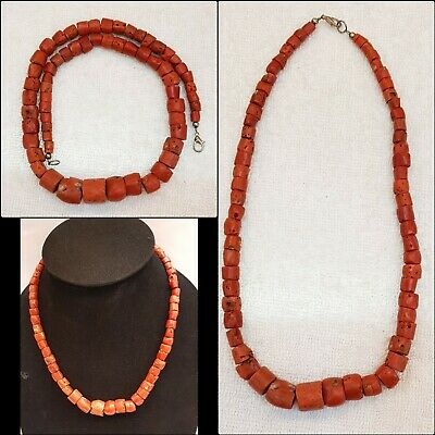 Very Beautiful Old Italian Natural Unique Coral Beautiful Old Natural Necklace