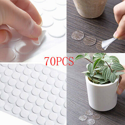 70pcs Sided Tape Multifunctional Round Shape Double-sided Clear Adhesive Sticker