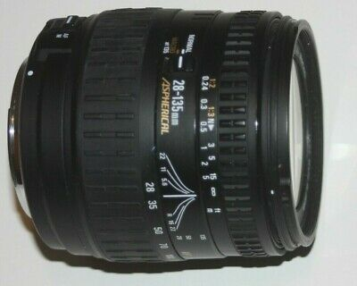 Canon EFS fit sigma 28-135 f3.8-5.6 ASPHERICAL macro lens works on EOS