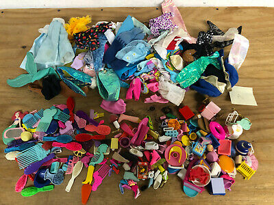 Lot of Barbie Accessories & Clothing Clothes (2 POUNDS) - (VINTAGE 1990s)
