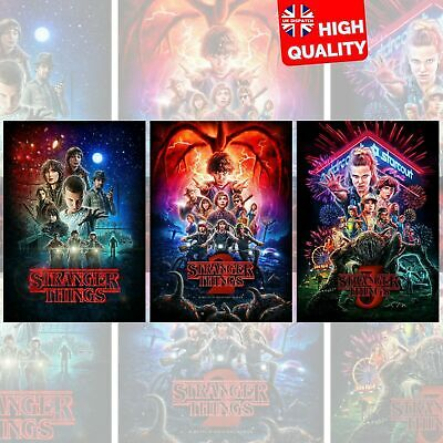 STRANGER THINGS Season 1, 2, 3 Posters Single Prints & Bundle | UK Seller