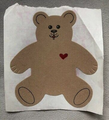 Vintage 1980's Large Fuzzy Bear Sticker, Unused, Personal Expressions