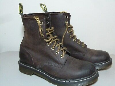 ccf1f0d255a PRE-OWNED ~ LADIES DR. MARTENS DOC MARTENS 1460 Brown Lace Up Boots ~ US 9