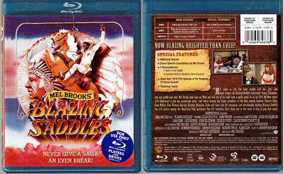 Blu-ray Mel Brooks BLAZING SADDLES Gene Wilder Cleavon Little OOP Region A/B/C