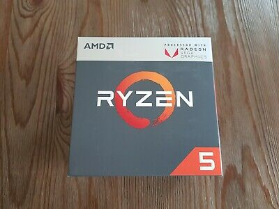 AMD RYZEN 5 2400G QuadCore 3.9GHz Socket AM4 65W Desktop Processor YD2400C5FBBOX