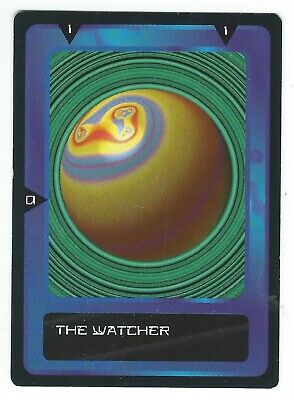 Doctor Who Black Border CCG Card The Watcher Variant Blue Background Card Good