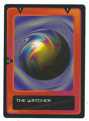 Doctor Who Black Border CCG Card The Watcher Variant Red Background Card Good