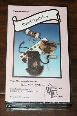 BEAD KNITTING Video Workshop VHS Beading Teaching Learning Bead & Button NEW