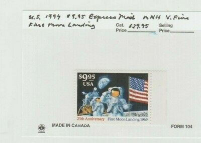 U.S. 1994 $9.95 Express Mail #2842, First Moon Landing, mNH Very Fine