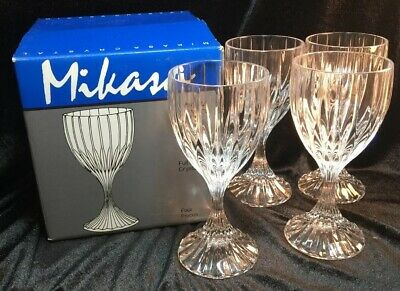Mikasa Crystal PARK LANE Wine Goblet (s) LOT OF 4 Made in Germany Glass-New, Box