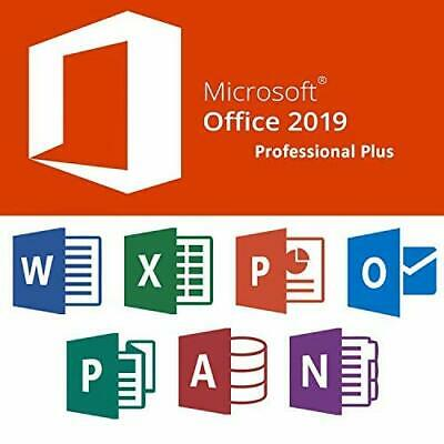 Microsoft Office Professional Plus 2019 32/64Bit,License Key,Lifetime Activation