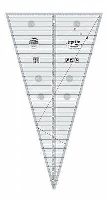 30° Triangle Ruler. Non-Slip Quilt Ruler from Creative Grids, #CGRSG1