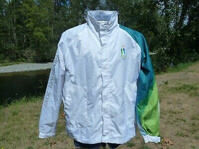 """Vancouver 2010 Olympic Torch Relay Coat Xl 58"""" Chest Hudson's Bay Canada Jacket"""