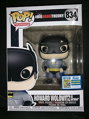 Funko Pop SDCC 2019 Big Bang Theory Howard Batman *Official Sticker* IN HAND