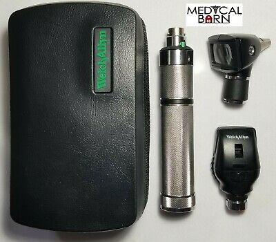 Welch Allyn 3.5v Student Diagnostic Set Otoscope Ophthalmoscope Plug-In Handle