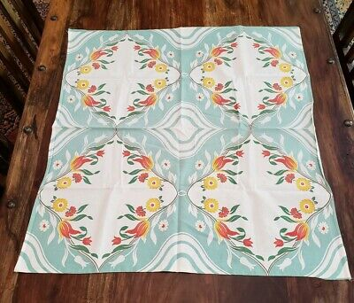 """Vintage Floral Tablecloth  Small 31 1/2""""W X 34 3/4""""L"""