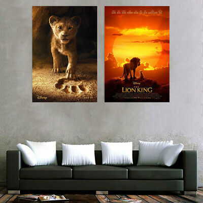 LION KING LIVE ACTION - MUFASA & SIMBA POSTER - MOVIE  Gogh Starry Movie