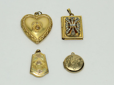 23a30cc113f61 VINTAGE1/20 12K GOLD Filled case with 22K Gold Nugget Flakes Pendant ...