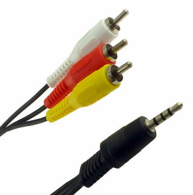 3.5mm TV Plug AUX Male to 3 RCA 3RCA Audio Video Adapter Cable DVD HDTV AV Cord
