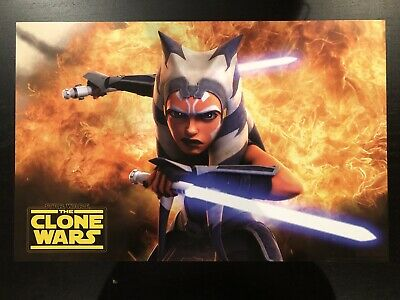 Star Wars Celebration Chicago 2019 Panel Exclusive Clone Wars Ahsoka Tano Poster
