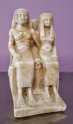 Vintage Egyptian Statue of Isis and Osiris