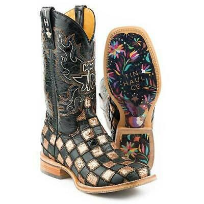 8bd7b39aec1 WOMEN'S TIN HAUL Checkered Past Boots With Meow Or Never Sole ...