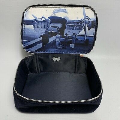 Anya Hindmarch Wash Bag Cosmetic Make Up Case Velvet First Class British Airways